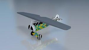 3D fokker d vii aircraft