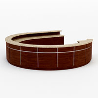 architectural visualization rounded reception desk 3D model