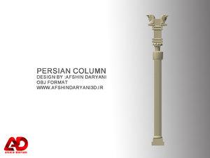 3D persian column model