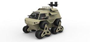 3D concept zombie truck