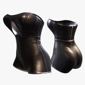 3D leather suit