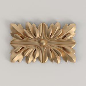 carvad rosette 3D model