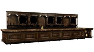 western saloon bar model