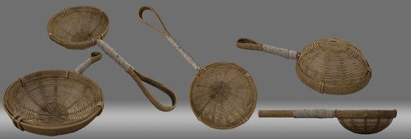 bamboo spoon ancient china model