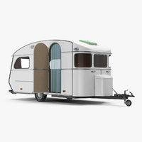 3D vintage caravan generic rigged model