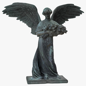 angel woman wings 3D
