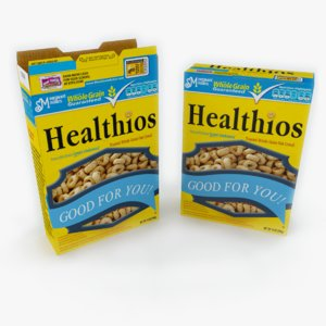 cereal box 3d model