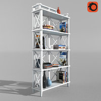 rack shelving 3D model