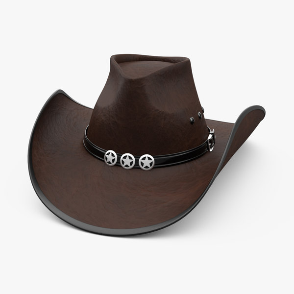3D leather hat
