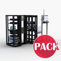 3D server rack model