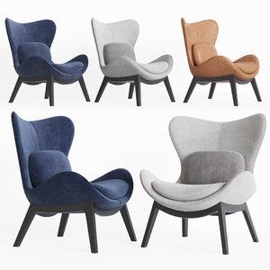 calligaris lazy armchair 3D