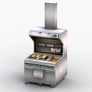 3D deep fryer machine