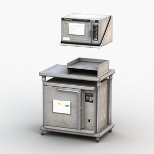 commercial electric oven 3D model