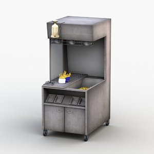 3D model deep fryer machine