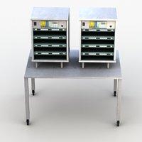 3D model food warmer display