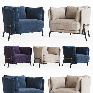 cradle armchair arflex 3D model