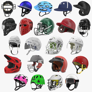 sport helmets 6 3D model
