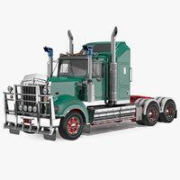 3D vintage semi-truck