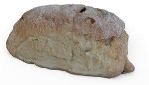 3D bread ciabatta