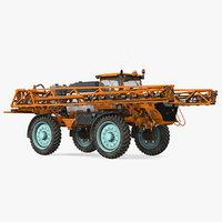 folding arms farm sprayer 3D model