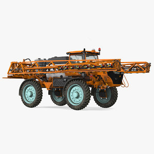 folding arms farm sprayer 3D model