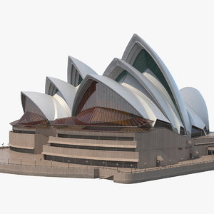 sydney opera house performing 3D model