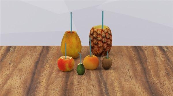 3D model fruit juices