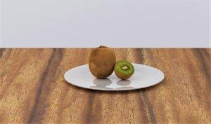3D fruit kiwi food