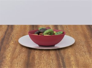 mixed fruit bowl 3D