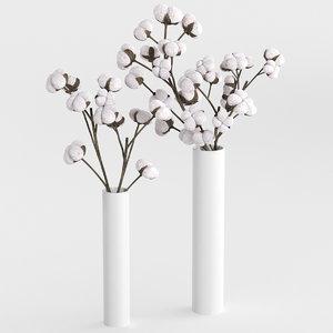 cotton bouquet 3D model