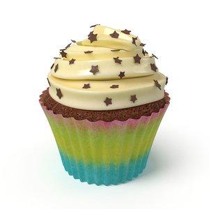 3D model cupcake cup cake