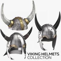 viking helmets 3D