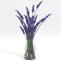 lavender bouquet 3D model