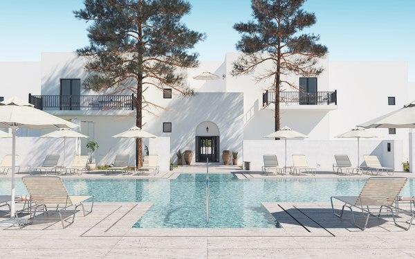 3D hotel pool