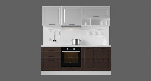 modular kitchen 2100 interiors 3D