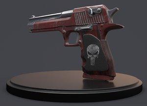 weapon pistol 3D