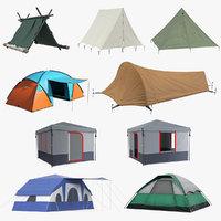 camping tents 5 3D