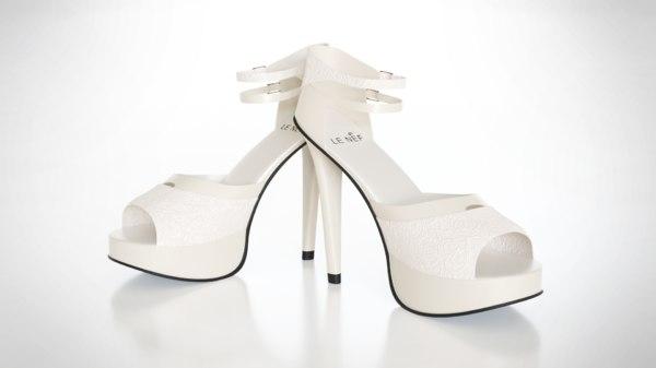 heeled shoes 3D model