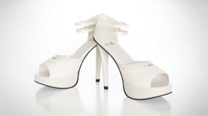 heeled shoes 3D model