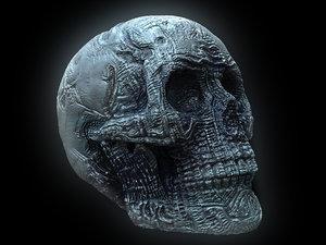 3D giger skull ultra hd model