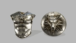 3D armor shield model