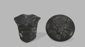 armor shield 3D model