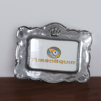 3D model silver crown picture frame