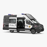 3D transit police van 2020