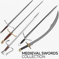3D model medieval swords