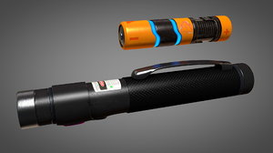 laser pointer battery 3D model