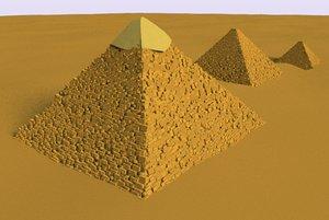 3D pyramids giza egypt