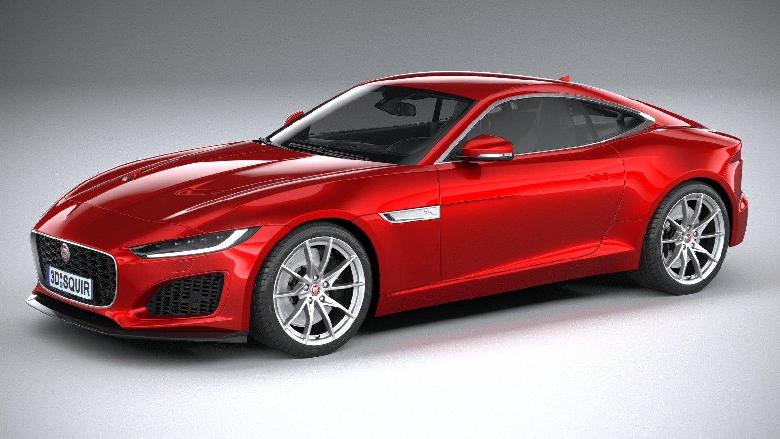 f-type regular coupe 3D model