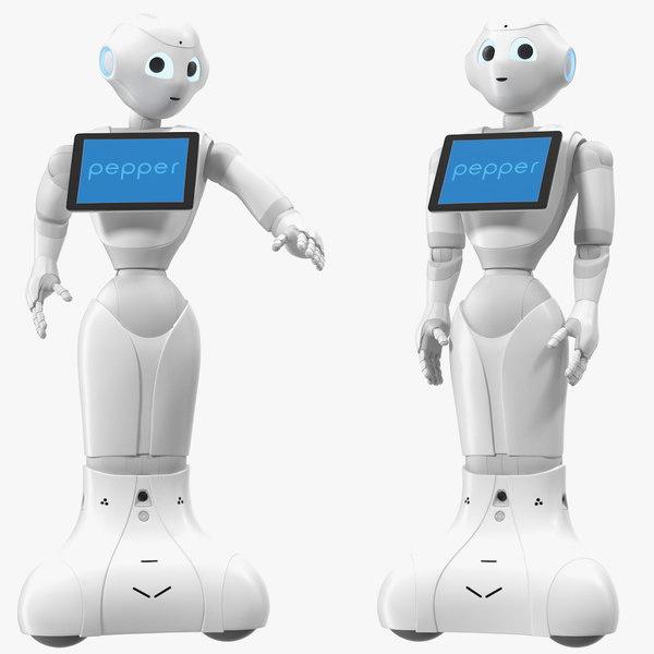 3D pepper robot rigged