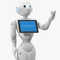 pepper robot rigged model